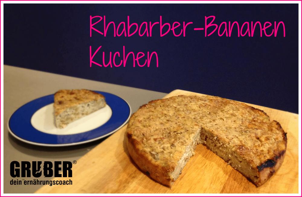 Rhabarber-Bananen Kuchen