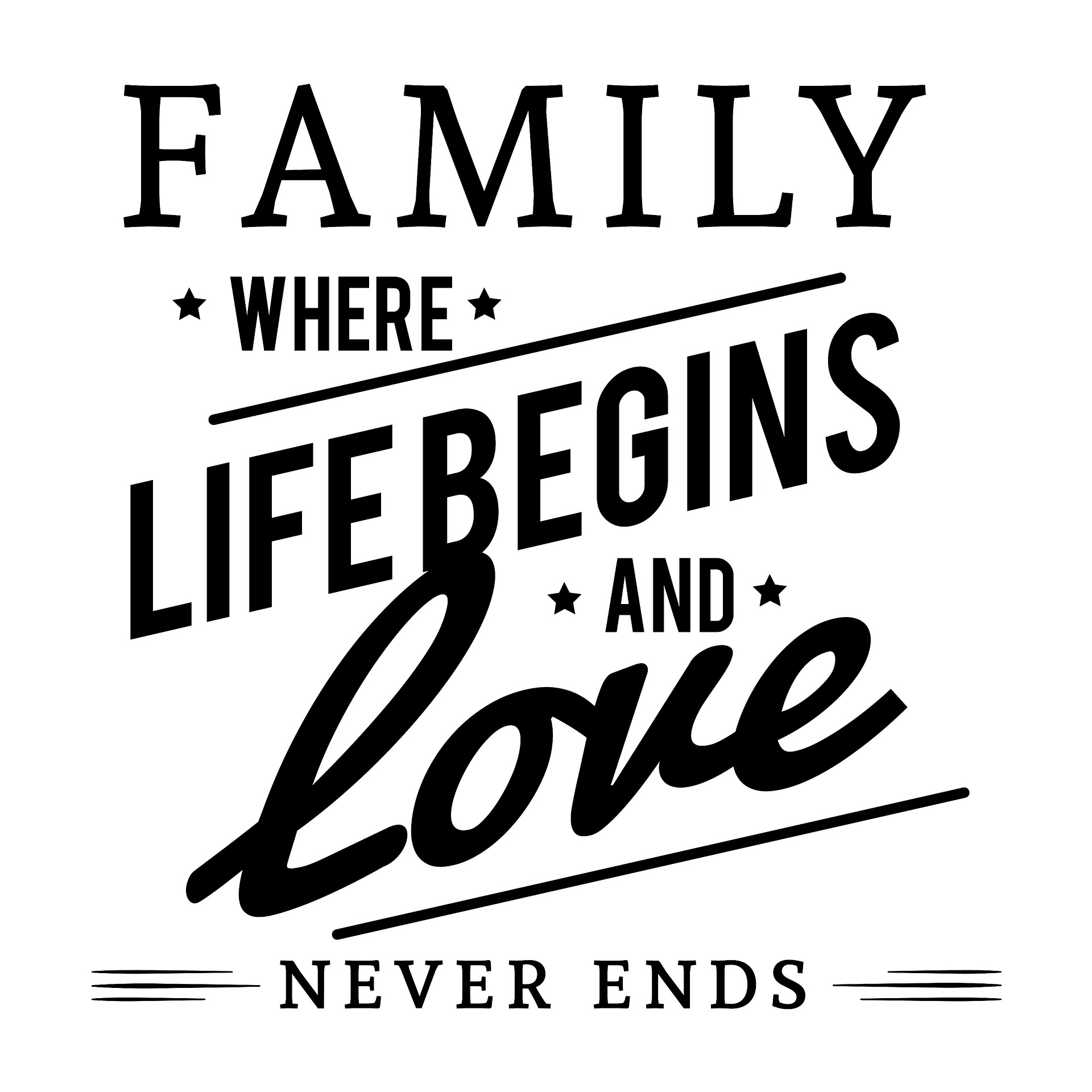 family is where life begins and love never ends