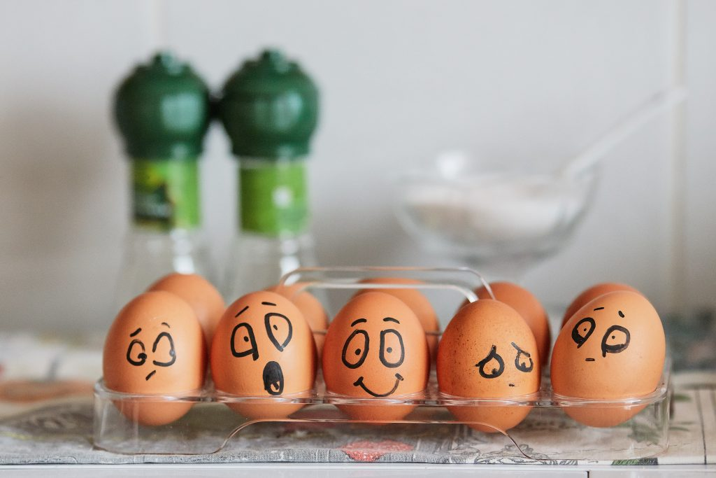 Eier mit Emotionen ziehen