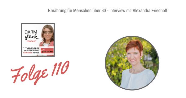 DG 110: Ernährung für Menschen über 60 – Interview mit Alexandra Friedhoff